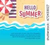 hello summer concept vector...