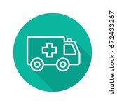 ambulance flat linear long...   Shutterstock .eps vector #672433267