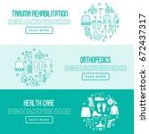 orthopedic and trauma... | Shutterstock .eps vector #672437317