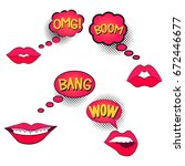 comic speech bubble with... | Shutterstock .eps vector #672446677