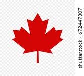 canada leaf | Shutterstock .eps vector #672447307