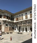 Small photo of ISTANBUL, TURKEY - JUL - 2017 : Harem buildings in the Topkapi palace, decorations.