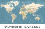 World Map Vector. High Detaile...