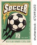 soccer tournament vector poster ... | Shutterstock .eps vector #672491653
