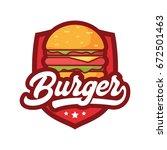 burger logo | Shutterstock .eps vector #672501463