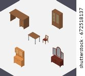 isometric design set of... | Shutterstock .eps vector #672518137