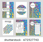 abstract vector layout... | Shutterstock .eps vector #672527743