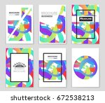 abstract vector layout... | Shutterstock .eps vector #672538213
