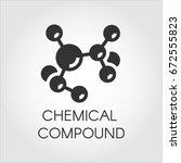 icon of chemical element... | Shutterstock .eps vector #672555823