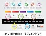 infograph template... | Shutterstock .eps vector #672564487