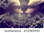 artificial intelligence and... | Shutterstock . vector #672565933