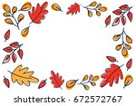 autumn leaves pattern vector. | Shutterstock .eps vector #672572767