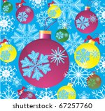 background with new year's fur... | Shutterstock . vector #67257760