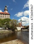 cesky krumlov in the czech  old ... | Shutterstock . vector #672604567