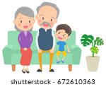 an old couple and the... | Shutterstock .eps vector #672610363