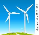 Wind Turbines Landscape On...