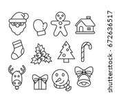 icon christmas  vector | Shutterstock .eps vector #672636517