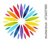 7 color of chakra mandala... | Shutterstock . vector #672637483