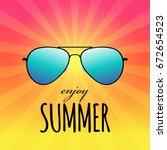 enjoy summer card with... | Shutterstock .eps vector #672654523