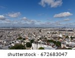 sight of paris from the... | Shutterstock . vector #672683047