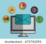 digital marketing design | Shutterstock .eps vector #672742393