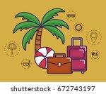 travel time design | Shutterstock .eps vector #672743197