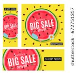 summer sale abstract banner... | Shutterstock .eps vector #672751357