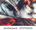 beautiful smoke with lighting... | Shutterstock . vector #672752413