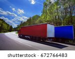 truck on the road | Shutterstock . vector #672766483