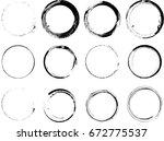 vector frames. circle for image.... | Shutterstock .eps vector #672775537