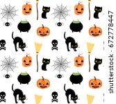 vector seamless pattern for... | Shutterstock .eps vector #672778447
