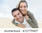 portrait of living young couple ... | Shutterstock . vector #672779407