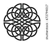 celtic national ornament... | Shutterstock .eps vector #672794017