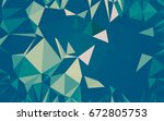 abstract low poly background ... | Shutterstock . vector #672805753