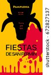 spain fiestas or festivals... | Shutterstock .eps vector #672827137