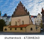 staronova synagoga. the old new ... | Shutterstock . vector #672848263