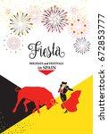 spain fiestas or festivals... | Shutterstock .eps vector #672853777