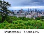montreal skyline view   Shutterstock . vector #672861247