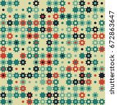 seamless geometric pattern with ...   Shutterstock .eps vector #672863647