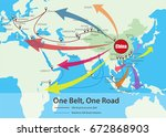 one belt  one road  chinese... | Shutterstock .eps vector #672868903