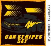 Tribal And Cool Car Stripe Set...