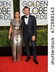 Small photo of LOS ANGELES, CA - JANUARY 8, 2017: Ruth Negga & Joel Edgerton at the 74th Golden Globe Awards at The Beverly Hilton Hotel, Los Angeles