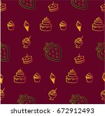 pattern. background texture.... | Shutterstock .eps vector #672912493