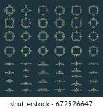 retro rosette and victorian... | Shutterstock .eps vector #672926647