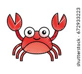 cute crab sealife character | Shutterstock .eps vector #672933223