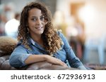 portrait of young startup woman ...   Shutterstock . vector #672936913