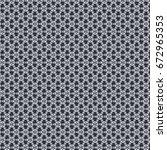 retro vector fabric pattern... | Shutterstock .eps vector #672965353