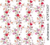 seamless floral pattern with... | Shutterstock .eps vector #672972247