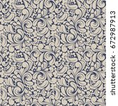 seamless background baroque...   Shutterstock .eps vector #672987913