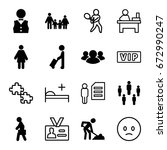 person icons set. set of 16... | Shutterstock .eps vector #672990247